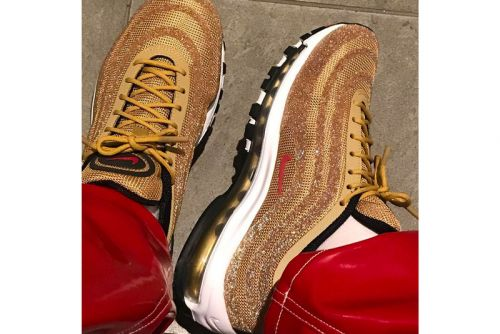 """Nike's Air Max 97 """"Metallic Gold"""" Gets Swathed in Swarovski Crystals"""