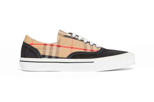 Burberry Applies Classic Plaid & Leopard Patterns Over Low Cut Sneakers