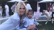 Khloe Kardashian, Tristan Thompson Come Together To Celebrate True's First Birthday