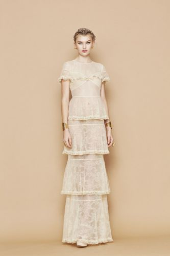 Short Sleeve Tiered Tulle dress from the GEORGES HOBEIKA