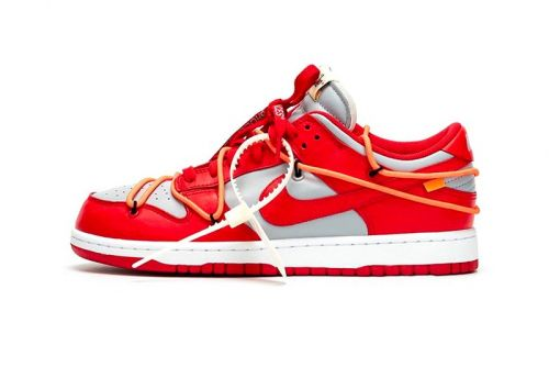 "The Best Look yet at the Off-White™ x Nike Dunk Low ""University Red"""