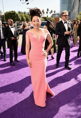 Sandra Oh's Stunning Emmys Look Is Very Barbie-Inspired