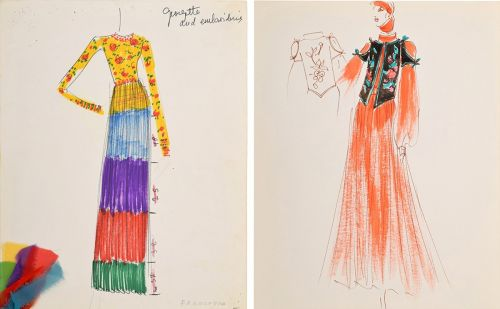 125 fashion sketches by Karl Lagerfeld to be auctioned in the US