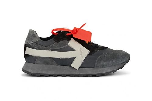 Off-White™ Arrow Sneaker Goes Neutral With Dusky Gray Release