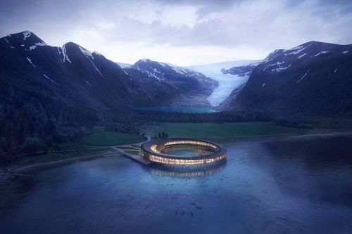 Snøhetta Designs Energy Positive Hotel in the Arctic Circle