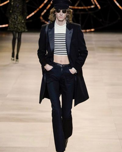 Cropped tops are back for the boys of Celine