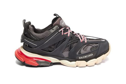 Balenciaga Adds Muted Black & Red Colorway to Track Sneaker Silhouette