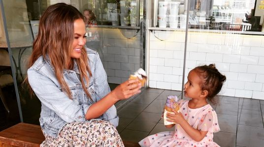 Chrissy Teigen Shared a Video of Luna Feeding Her Hamster and It's Just Too Pure