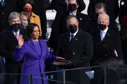 Kamala Harris Sworn in as Vice President of the U.S. Wearing Christopher John Rogers