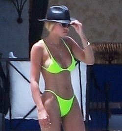 Sofia Richie Puts Her Vacation Tan on Display in Tiny Lime Green Bikini