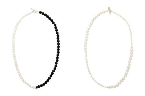 Drops Pearl & Onxy Split Jewelry
