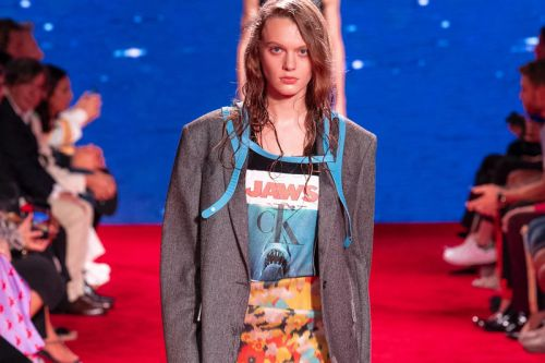 'Jaws' Hits Land With Raf Simons' CALVIN KLEIN 205W39NYC SS19 Collection
