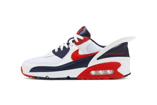 Nike Air Max 90 FlyEase Drops in White, Blue and Red