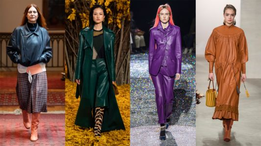 Colorful Leather Will Likely Replace Your Bright Faux Fur Come Fall 2019