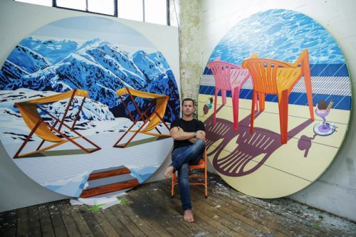 """Will Martyr Creates Bold Circular Paintings for """"Fathoms"""" Unit London Exhibition"""