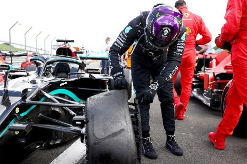 Lewis Hamilton Defends Silverstone Title With a Blown Out Tire