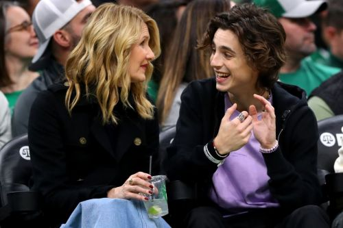 For Timothée Chalamet, Courtside Fashion Means Lots of Statement Jewelry