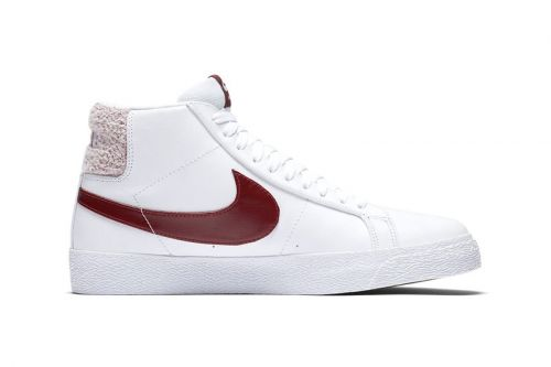 Nike SB's Zoom Blazer Mid Pack Sports Terry Cloth-Detailed Heel