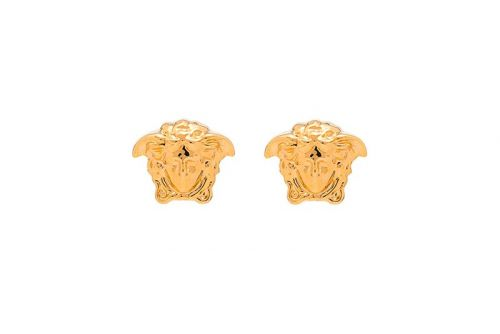 Versace Drops a Pair of Gilded Medusa Head Earrings