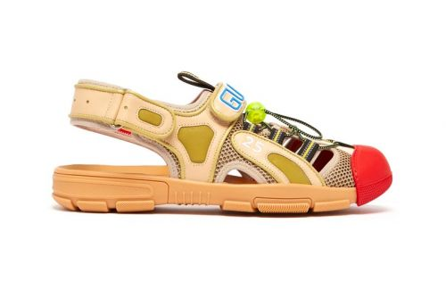 Gucci Drops Off-Kilter Leather & Mesh Sandals for SS19 Season