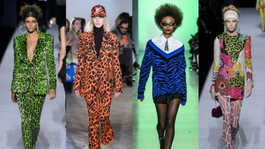 Crazy-Bright Animal Prints Have Resurfaced on the Fall 2018 Runways