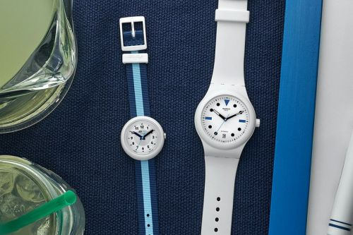 HODINKEE Taps Swatch for Two Playful Summer-Ready Timepieces