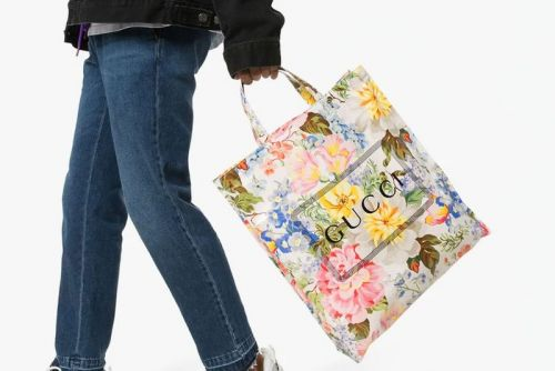 Gucci Drops Multicolored Floral-Print Tote Bag