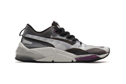 "Puma Reworks its LQD CELL Optic in a Stealthy ""Sheer Gray/Violet"" Colorway"