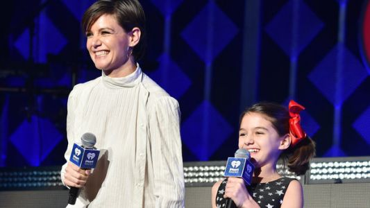 Katie Holmes And Suri Cruise Drop By Jingle Ball To Introduce Taylor Swift