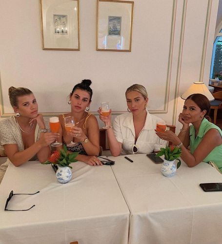 Oops! Sofia Richie and Anastasia Karanikolaou Broke a Champagne Flute at Lunch: 'Can't Take Us Anywhere'