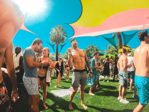 Surrounded by Palm Trees at Splash House Festival