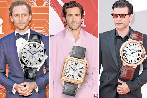 Clock all the celebrity guys wearing Cartier watches on red carpets