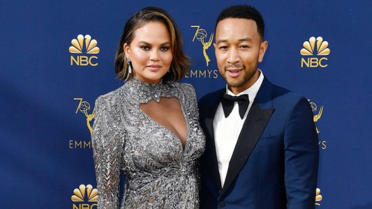 RelatableAF - John Legend And Chrissy Teigen Talk About Napping On The Emmys Red Carpet