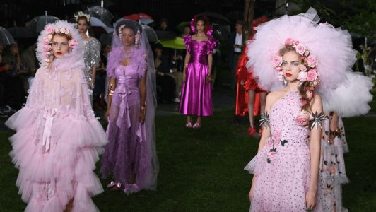 Rodarte Staged a Romantic Return to New York in a Rainy Graveyard