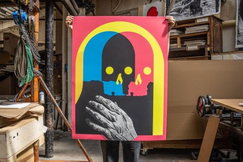 Michael Reeder & Print Them All Come Together for 'Shapeshifter' Lithograph