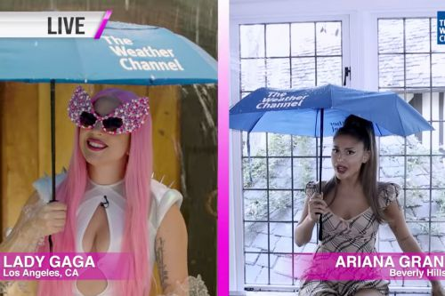 Lady Gaga, Ariana Grande promote 'Rain On Me' on Weather Channel
