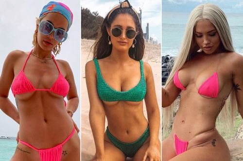Beach babes are busting out 'underboob' bikinis this summer