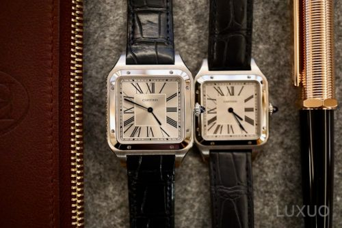Mechanical Cartier Santos-Dumont XL watch joins the beloved quartz edition with reworked proportions