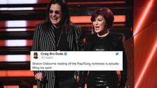 Sharon Osbourne Trying To Announce Rap Nominees At Grammys Has Twitter In Tears