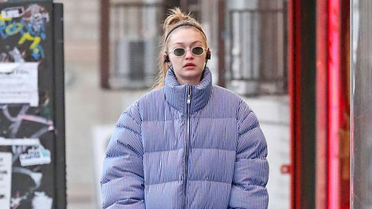 Honestly, Gigi Hadid Wearing A Puffer Jacket And No Makeup Is Such A Mood