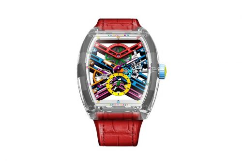 Franck Muller Drops Vanguard Skeleton Sapphire Color Dreams
