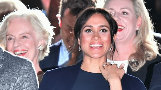 Meghan Markle Wore a Thing: Stella McCartney Navy Dress in Australia Edition