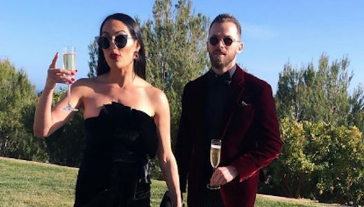 Nikki Bella and Artem Chigvintsev Were Twinning While Attending 'DWTS' Pros Jenna and Val's Wedding