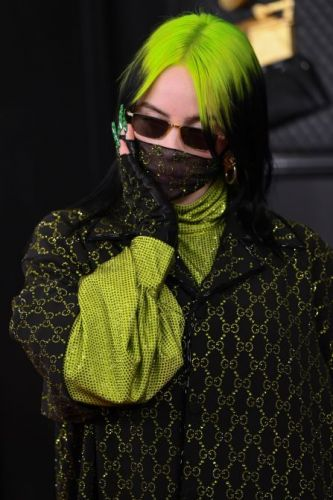 Even Billie Eilish's Nails are Gucci Green at the Grammys