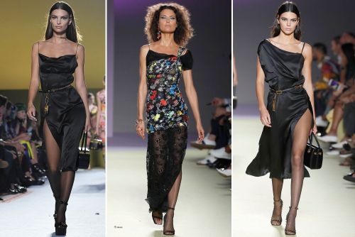 Shalom Harlow is a blast from the past on Versace runway