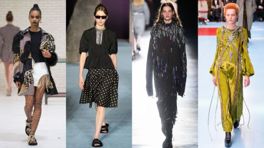 Designers Want You Dripping With Sparkly Crystals Next Fall
