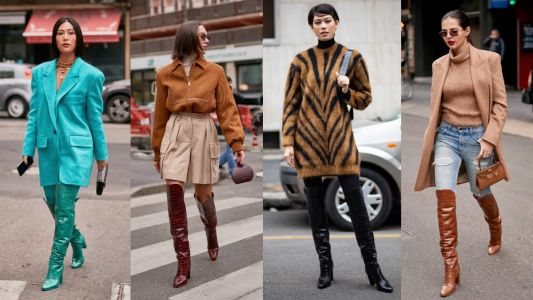 Max Mara's Over-The-Knee Boots Were Everywhere on Day 2 of Milan Fashion Week
