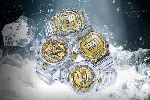 Casio G-SHOCK Drops See-Through Watches for Its Glacier Gold Collection