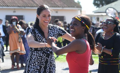 Meghan Markle Wore a Thing: Leopard Print Mayamiko Dress in Africa Edition