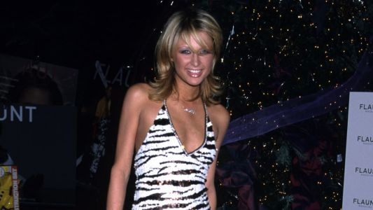 Great Outfits in Fashion History: Paris Hilton in a Zebra-Print Halter Dress